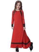 Fashion Muslim Maxi Dress Children Abaya Girls Long Robe Gowns Middle East Moroccan Jubah Ramadan Arab Dubai Islamic Clothing