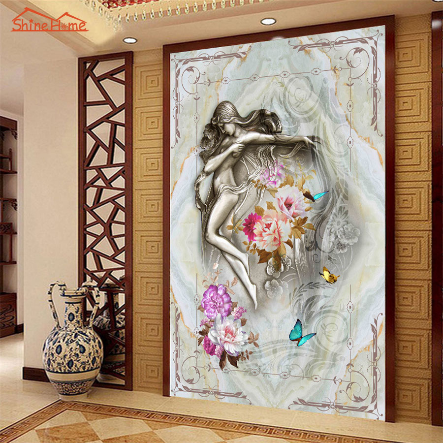 Abstract Oil Painting Style Dancing Girl Wallpaper 3D Room Wall Paper for Walls Livingroom Embossed Mural Rolls Papel De Parede