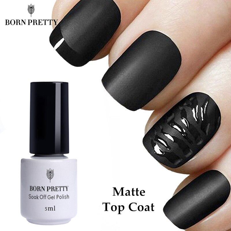 1 бутылка BORN PRETTY Matte Top Coat Гель-лак 5 мл без протрите замочить от маникюра дизайн ногтей УФ Гель-лак