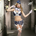 9717 Sexy Air Stewardess Cosplay Costumes Halloween Air Hostess Bodycon Costumes For Women with Top+Skirt