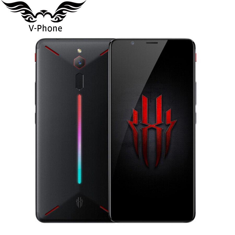 2018 New Original ZTE Nubia Rouge Magique Jeu Mobile Téléphone 6 Octa Core 8 gb 128 gb Plein Écran d'empreintes digitales 4g Jeu Smartphone