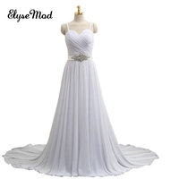 New Design A Line Lace Wedding Dresses Spaghetti Straps Crystal Sexy Vintage Wedding Bridal Gowns China Online Shop