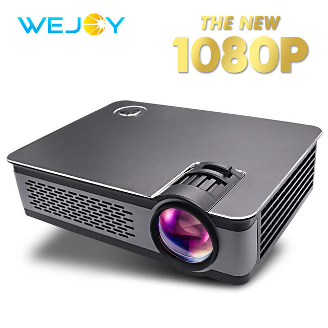 Big Sale Wejoy L5 HD Mini ProjectorReal Portable 1080P High Resolution Brightness Home Theater VGA/HDMI/USB/AUDIO Function