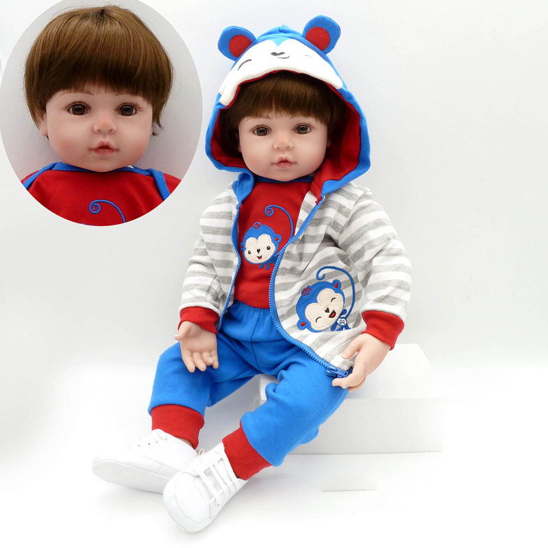 New 22Inch Silicone Toddler Baby Reborn Dolls Adorable Lovely Handmade Kids Princess Toys Children Bonecas Baby Doll Reborn Doll