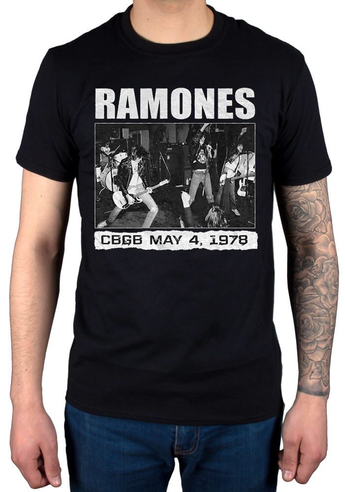 Printing O-Neck T Shirt Gildan Men'S Ramones Cbgb 1978 New Men'S T Shirt Rock Band Merch Presidental Seal Design Short Sleeve