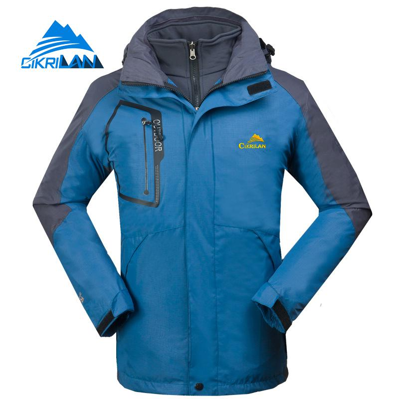 3in1 Waterproof Winter Outdoor Camping Hiking Jacket Men Windbreaker Warm Fleece Liner Coat Snowboard Skiing Jaqueta Masculina new mens 3in1 outdoor fleece lining hooded waterproof winter jacket men windbreaker coat ski hiking camping jaqueta masculina