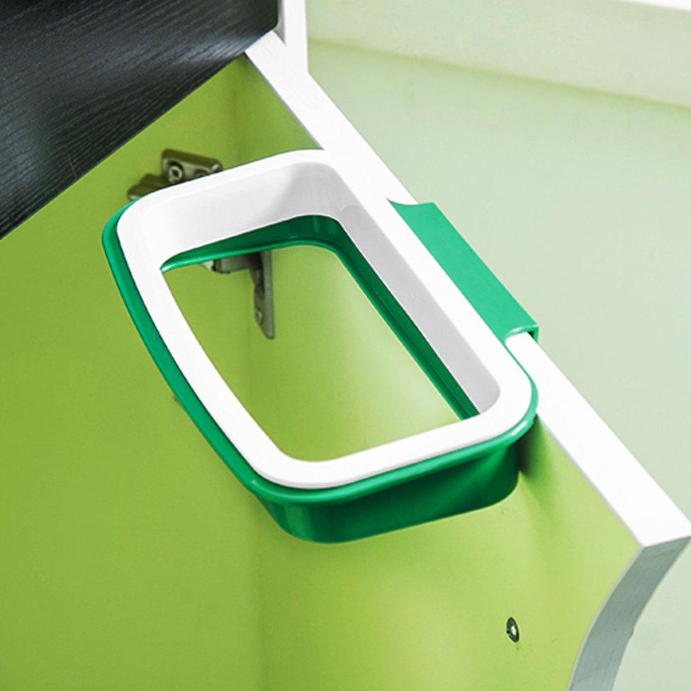 5 pcs Plastic Kitchen Hanging Trash Rubbish Bags Holder Garbage Racks Cupboard Hanger