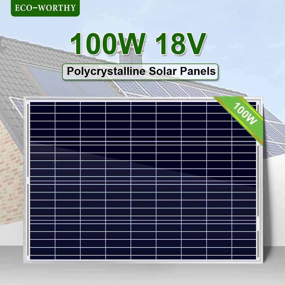100W/200W 18V Polycrystalline Solar Power Panel for 12v Battery charger Off Grid System Solar for Home System solar panel system100W/200W 18V Polycrystalline Solar Power Panel for 12v Battery charger Off Grid System Solar for Home System solar panel system
