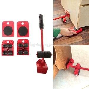 Image 1 - 5 Stücke/8 stücke Möbel Transport Roller Set Entfernung Hebe Umzug Werkzeug Schwere Bewegen Haus Möbel zubehör D12 Dropship