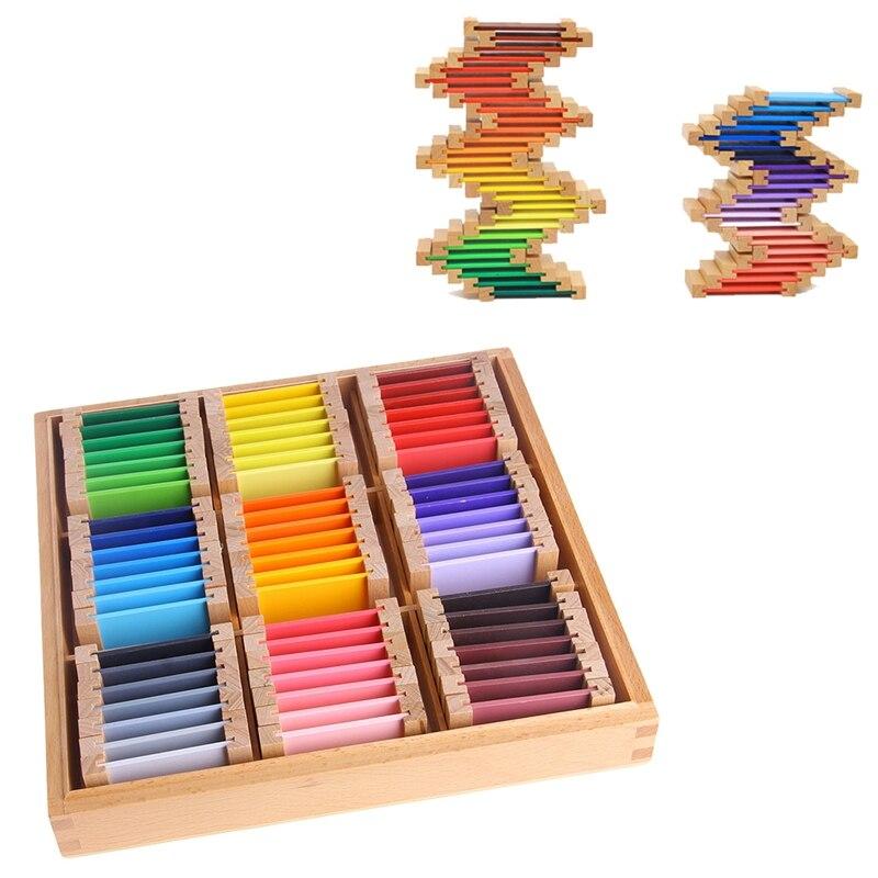 Bébé jouet Montessori bois couleur tablette 3rd boîte éducation de la petite enfance préscolaire formation enfants jouets Brinquedos Juguetes - 3