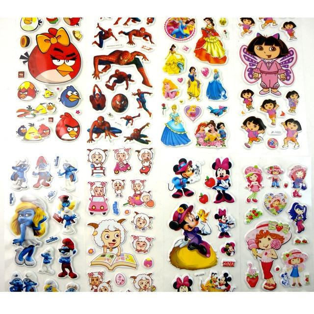 cartoon bubble stickers child sticker three dimensional cartoon