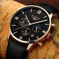 Mens Relojes de Primeras Marcas de Lujo LIGE Hombres Deporte Militar Reloj de Pulsera Cronógrafo Reloj de Hombre Reloj de Cuarzo Relogios masculino de Cuero