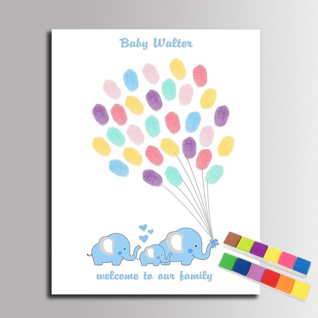 Buy fingerprint signature canvas painting for Balloon decoration book