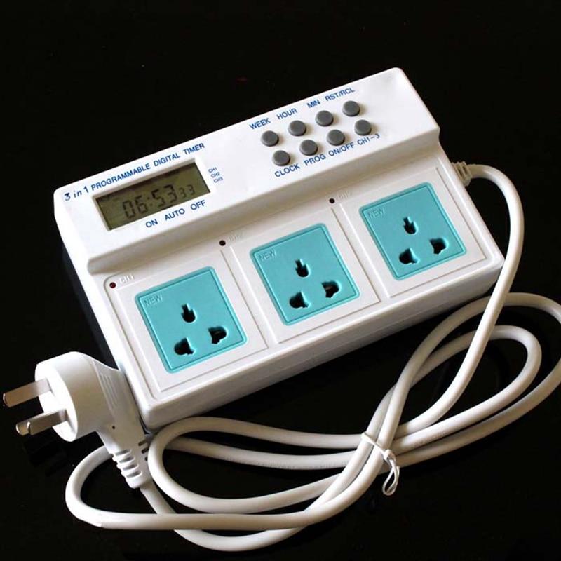 Prise de synchronisation 3680 w pour aquarium aquarium 3 en 1 programmable contrôleur de puissance de minuterie numérique