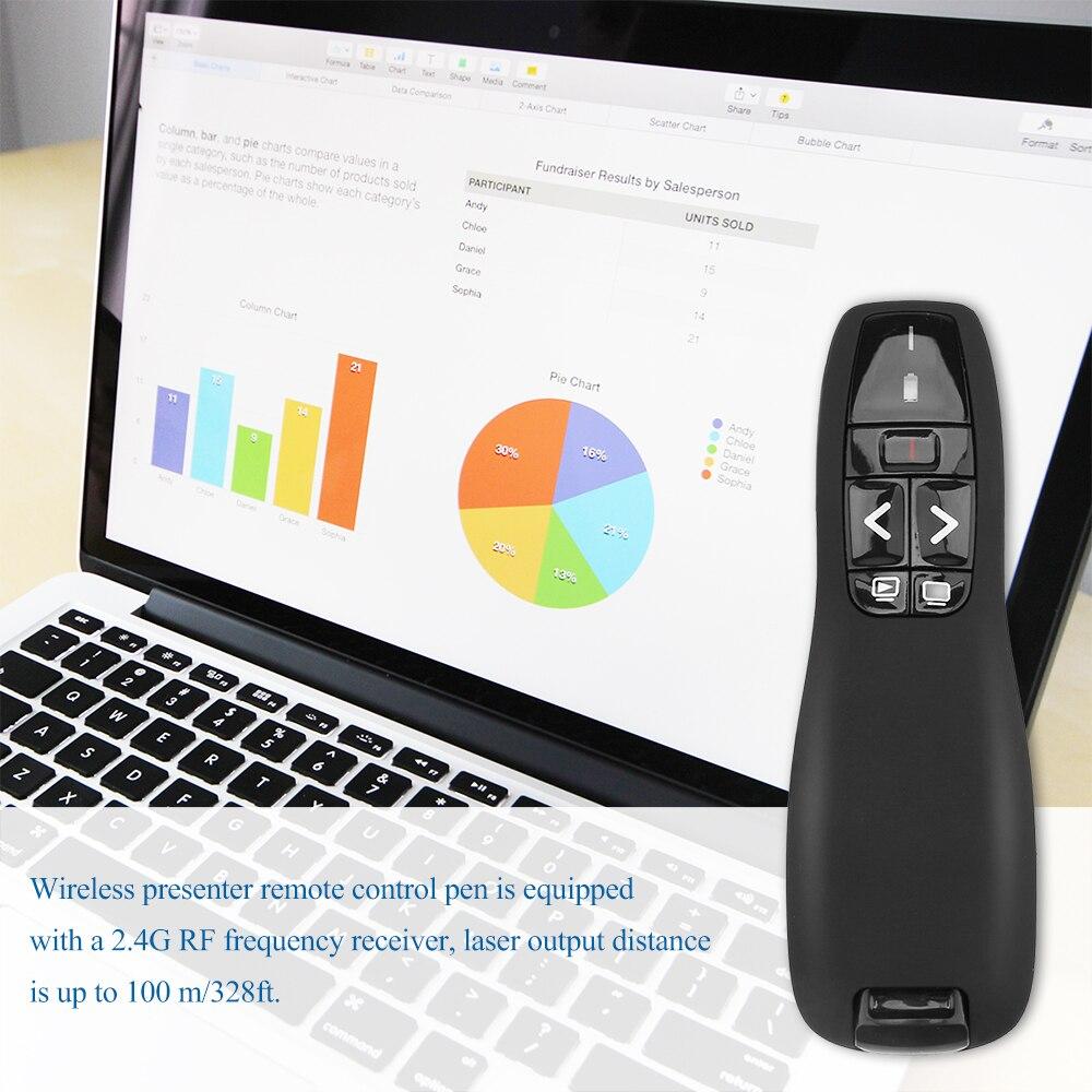 2.4GHz Wireless Presenter PowerPoint Presentation Remote Control PPT Clicker*