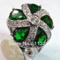 Fashion Peridot Cubic Zirconia Round Trendy Jewelry Silver Plated  RING vR384 sz# 6 7 8 9