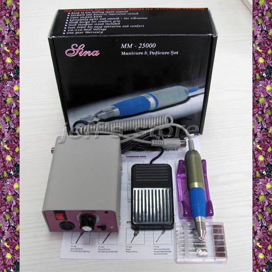 Elektrische Nagel Maniküre Pediküre Drill Datei Maschine Kit Nail art Tool Set-in Elektrisches Maniküre Bohrer & Zubehör aus Haar & Kosmetik bei  Gruppe 1