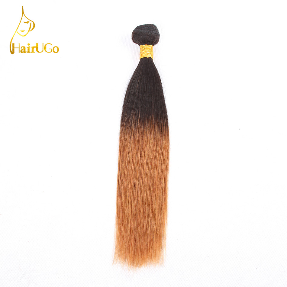 HairUGo Hair Ombre Hair Pre-colored 100% Human Hair Peruvian Straight Bundles Hair Exten ...