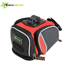 ROCKBROS 2017 Nylon Bicycle Bags Reflective Strap Road Bike Saddle Bag MTB Seat Post Bag Fixed Gear Cycling Bag, 3 Colors
