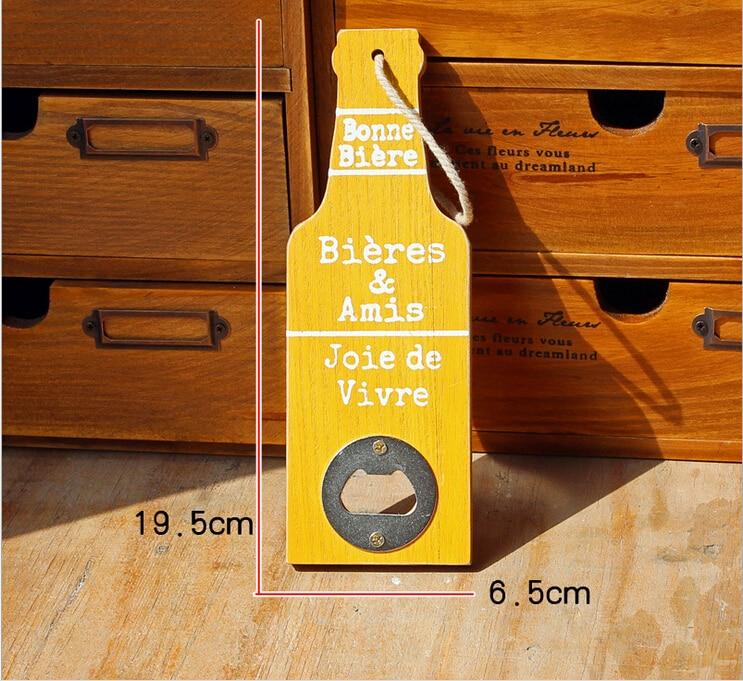 American Vintage Style Bottle Opener Wooden Can Opener Creative Bar ...