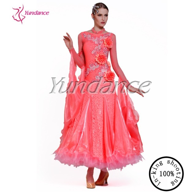 6018550b1a0a 2016 Wholesale Watermelon Red Ballroom Standard Smooth New Flamenco Dance  Dresses B-13226