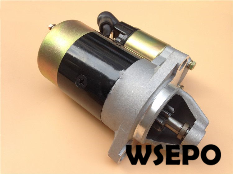 Chongqing Quality! Electric Start Motor for 186F(FA) L100 9HP Air Cooled Diesel Engine Powered 5~5.5KW Generator duel upgrade exhaust tuned pipe for 1 5 ddm rc gas model car buggy truck baja free shipping