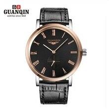Original GUANQIN Mens Relojes de Primeras Marcas de Lujo de Los Hombres Reloj de Pulsera Impermeable Para Hombre Relojes de Pulsera Relogio masculino reloj de Cuero
