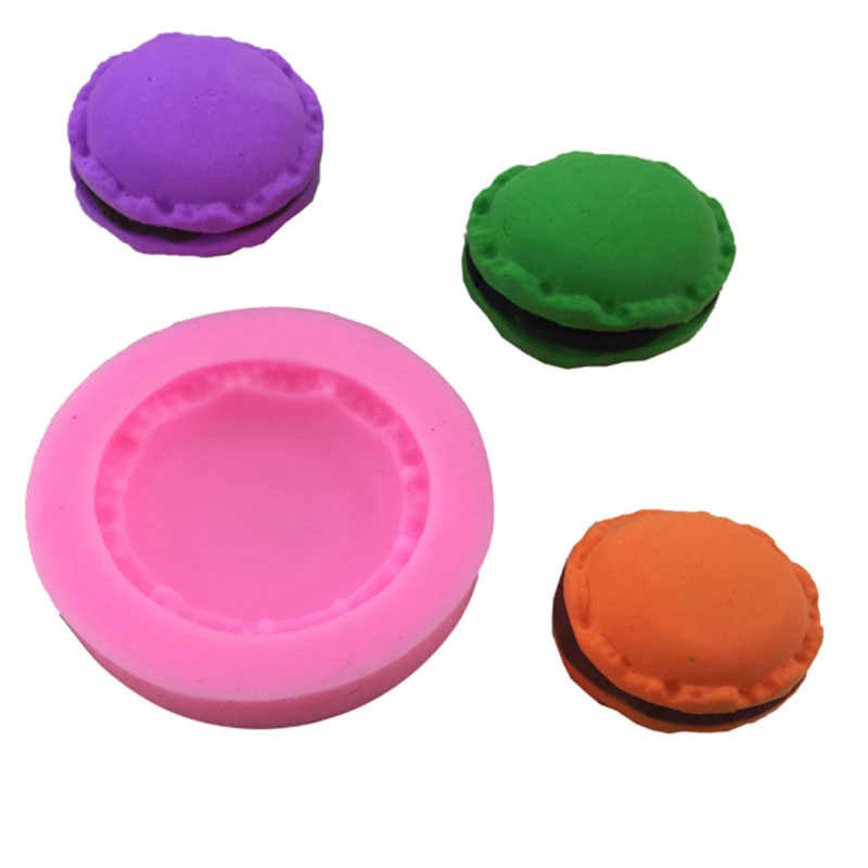 Macaron Mold Cake Silicone Mold Miniatuur Voedsel Polymeer Klei, Sieraden DIY, Zeep Schimmel, cookie Biscuit Fondant Sugarcraft Schimmel