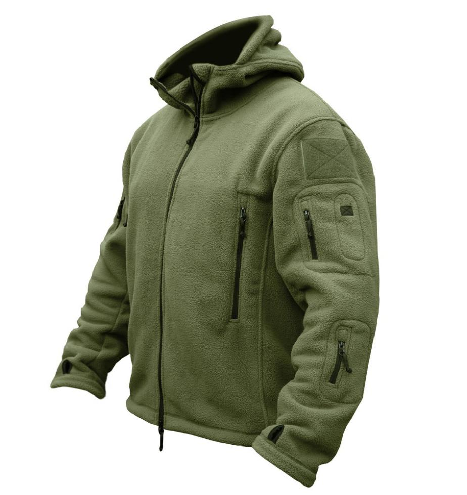 US Military Man Fleece Tactical Jacket Outdoor Polartec Thermal Breathable Sport Hiking Polar Hooded Coat Outerwear Army Clothes - APPLETREE FASHION DESIGN CO.,LTD. store