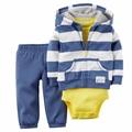 2017 novo modelo do bebê dos miúdos da menina do menino roupas definir casaco + bodysuit + calça 3 pcs bebê conjunto roupa infantil, roupas bebes meninos