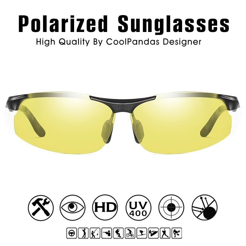 Aluminum Magnesium Photochromic Polarized Sunglasses Men Driving Glasses Day Night Vision Driver Goggles Oculos De Sol Masculino 4