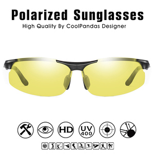 Image 4 - אלומיניום מגנזיום Photochromic מקוטב משקפי שמש גברים נהיגה משקפיים יום ראיית לילה נהג משקפי Oculos דה סול Masculino