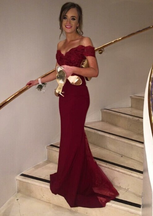 Custom Made Elegant Cap Sleeve Mermaid Women Formal font b Dresses b font 2015 Vestidos de