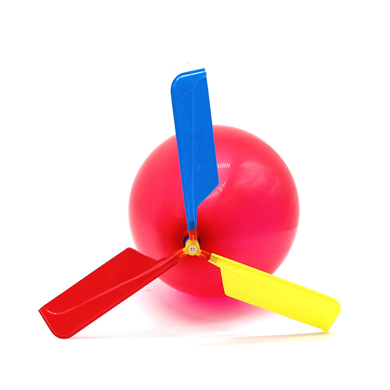 2pcs Science Educational Toy Balloon Helicopter DIY Handmade Funny Scientific Experiments Toys Best Gifts For Kids