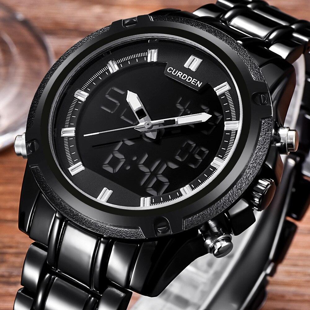 Led Watch Chronograph Waterproof Men Fashion Relogio Japan Masculino Movt Digital CURDDEN