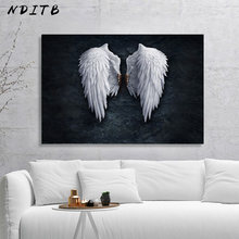 White Angel Wings Picture Canvas Fashion Poster Nordic Style Abstract Wall Art Canvas Print Painting Modern Living Room Decor(China)