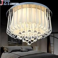 M Modern Romantic Rural Cloth Art LED Round Bedroom Light Dia55 H40cm E14 4 Led Bulbs