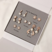 IDESTINY High Quality Simulated Pearl Clip Earring No Ear Hole For Women White Gold Color Fashion Clips Earings Week Sets Bijoux