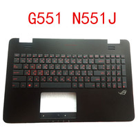 New notebook keyboard Bezel for ASUS ASUS G551 G551JW N551JM N551 N551J GL551J without touchpad Dual language with backlight