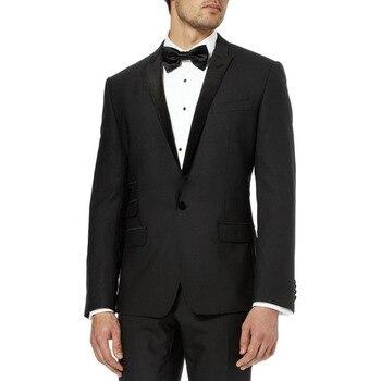 2017 Most Popular Classic Men Suits Formal Prom Suits Vintage Groomsmen Wedding Tuxedos Black Mens Daily Wear suit(Jacket+Pants)