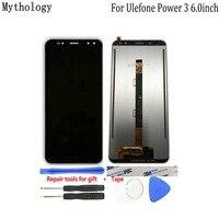 شاشة Ulefone Power 3 3S تعمل باللمس ثماني النواة 6.0 بوصة 2160X1080 FHD لوحة اللمس الهاتف المحمول LCD الأساطير السوداء