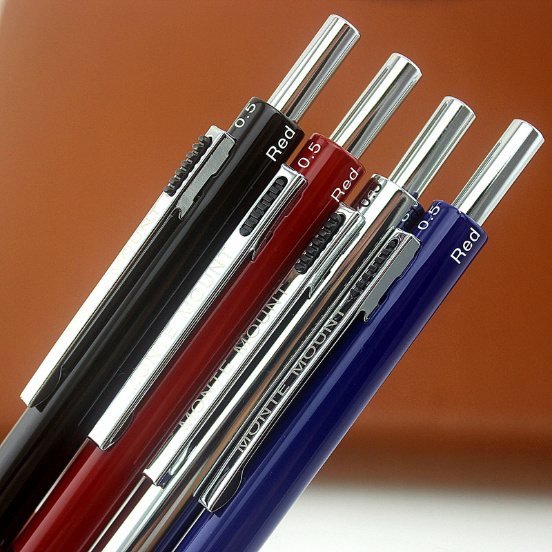 400 RED AND SILVER MULTIFUNCTION 4 IN 1 BALLPOINT PEN AND PENCIL 0.5 SILVER BLACK 4 COLORS FOR CHOOSE