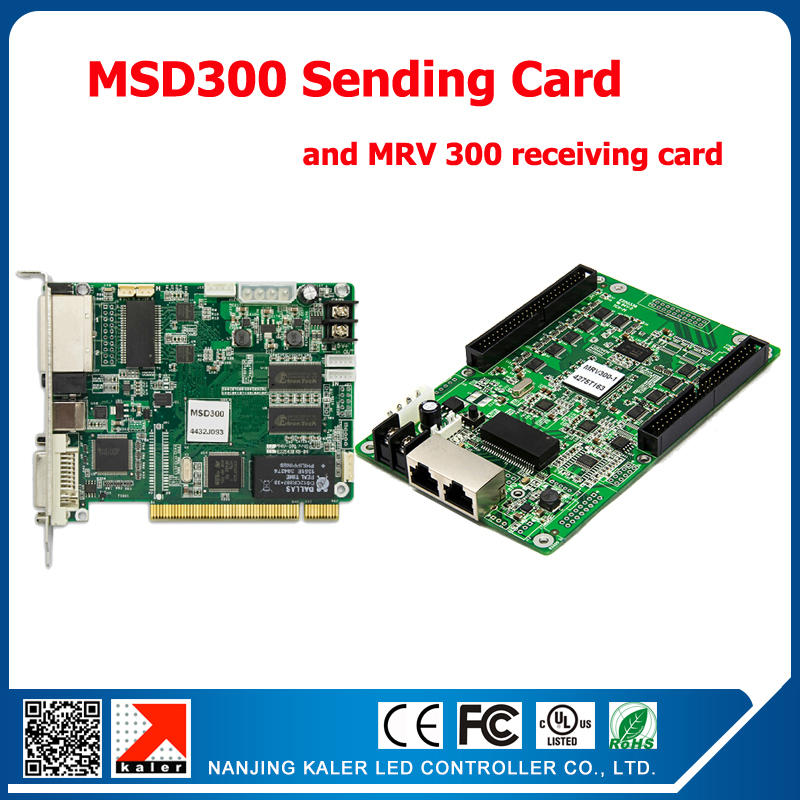 New Full Color LED Sending Card MSD300 with 1pcs MRV300 Receiving Card Full Color Synchronous LED Display Control Card