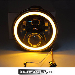 7 дюймовый круглый светодиодный фар лампа с DRL угол глаза гало 7 для Honda CB 400 500 1300 Hornet 250 600 900 VTR 250