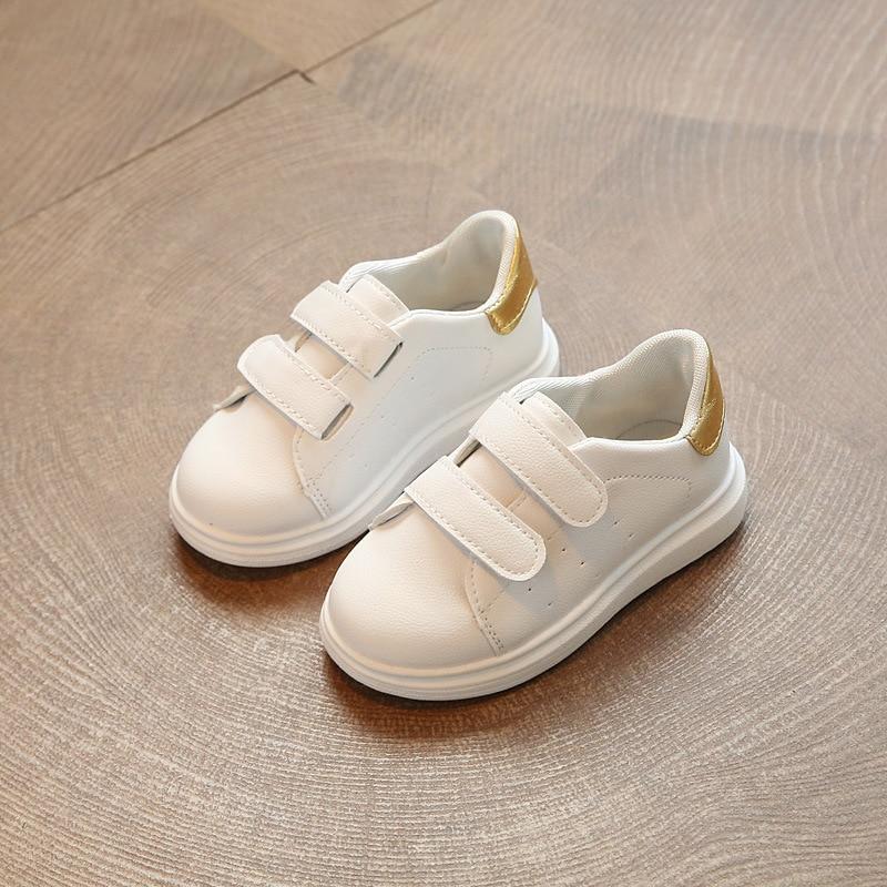 Printemps et Automne mode d'or PU imperméable chaussures à semelles souples pour enfants fille casual vert enfants chaussures enfants noir chaussures