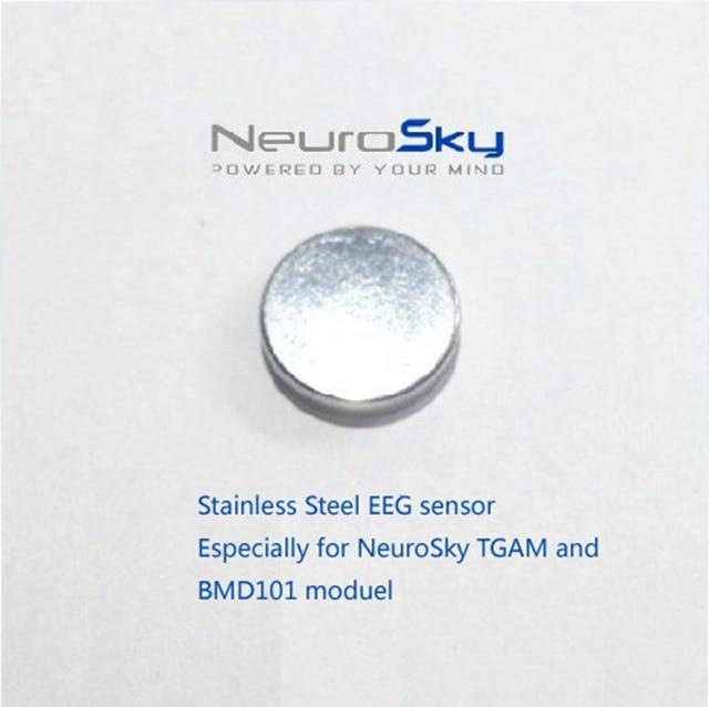 Paslanmaz çelik yuvarlak şekil kuru elektrot aksesuarları Neurosky EEG cihazı Brainwave sensörü kulaklık TGAM çip BMD101 modülü