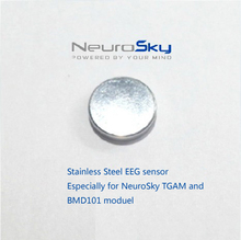 Stainless Steel Round Shape Dry Electrode Accessories for Neurosky EEG Device Brainwave Sensor Headset  TGAM Chip BMD101 Module