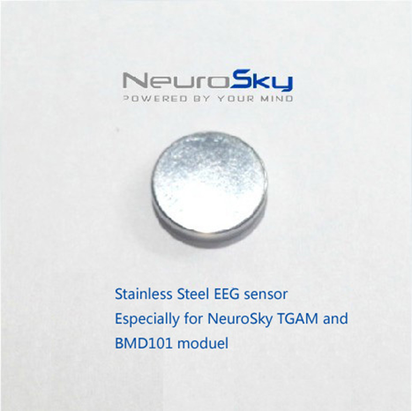 Stainless Steel Round Shape Dry Electrode Accessories for Neurosky <font><b>EEG</b></font> Device Brainwave <font><b>Sensor</b></font> Headset TGAM Chip BMD101 Module image
