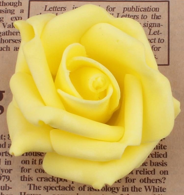 100 unids / lote 7 cm Espuma Artificial Rose Heads Real Touch DIY - Para fiestas y celebraciones - foto 2