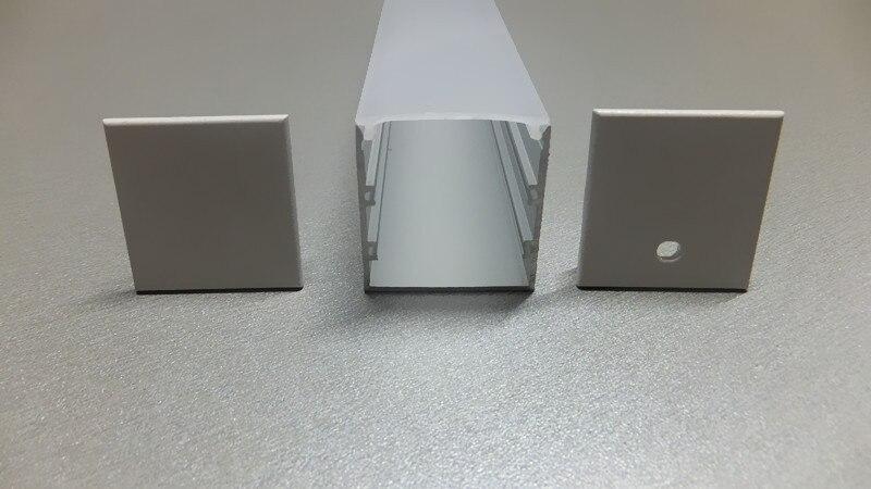 10-PACK 1M / 3.3ft hliníkový kanál ve tvaru U / profil pro flex / tvrdá LED pásová světla bez Oyster bílého krytu, koncovky, montážní svorky